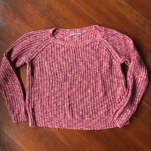 🦃 rubbish Nordstrom acrylic sweater pink knit xs
